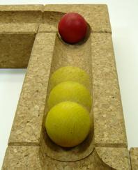 コルク積み木玉ころころイメージ