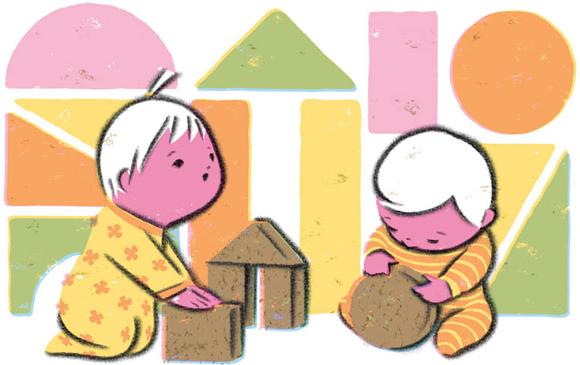 コルク積み木トップ積木イメージ